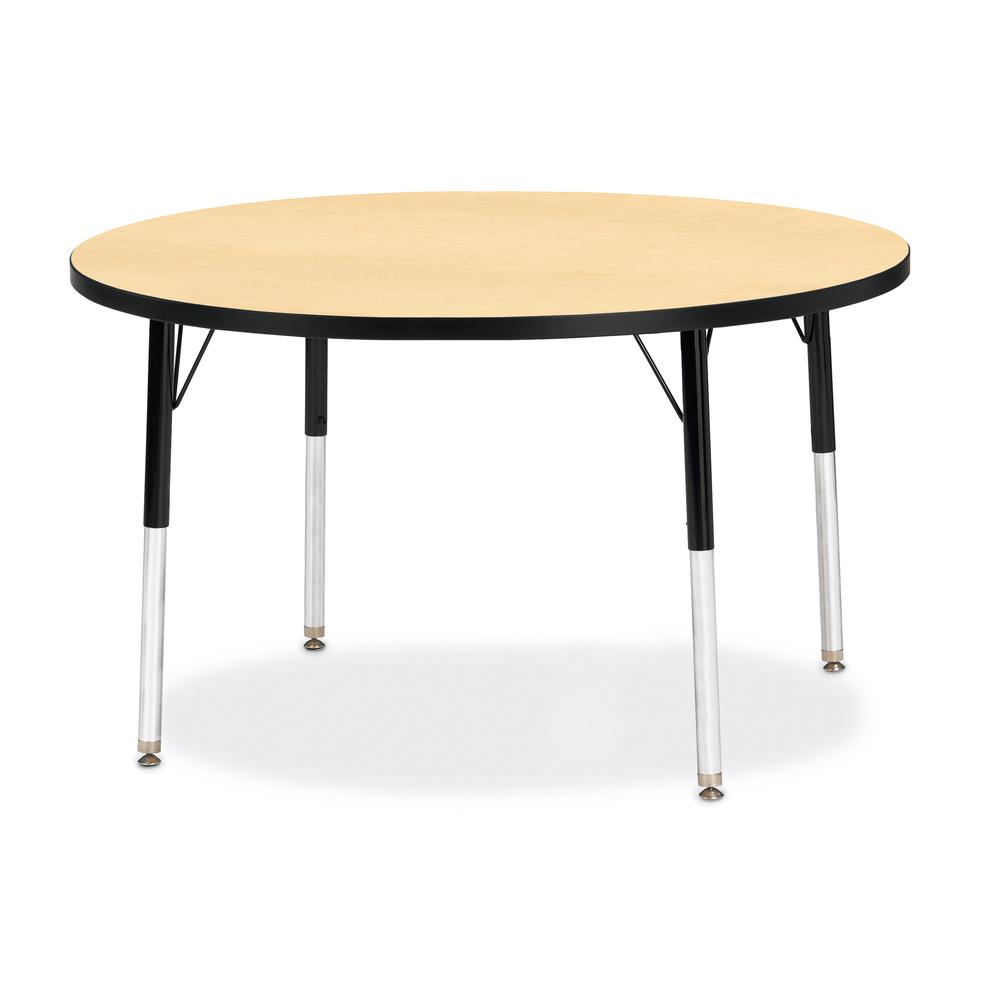 """Jonti-Craft Berries Elementary Height Classic Round Color Top Table - Laminated Round, Maple Top - Four Leg Base - 4 Legs - 1.13"""" Table Top Thickness x 42"""" Table Top Diameter - 24"""" Height - Assembly R. Picture 1"""