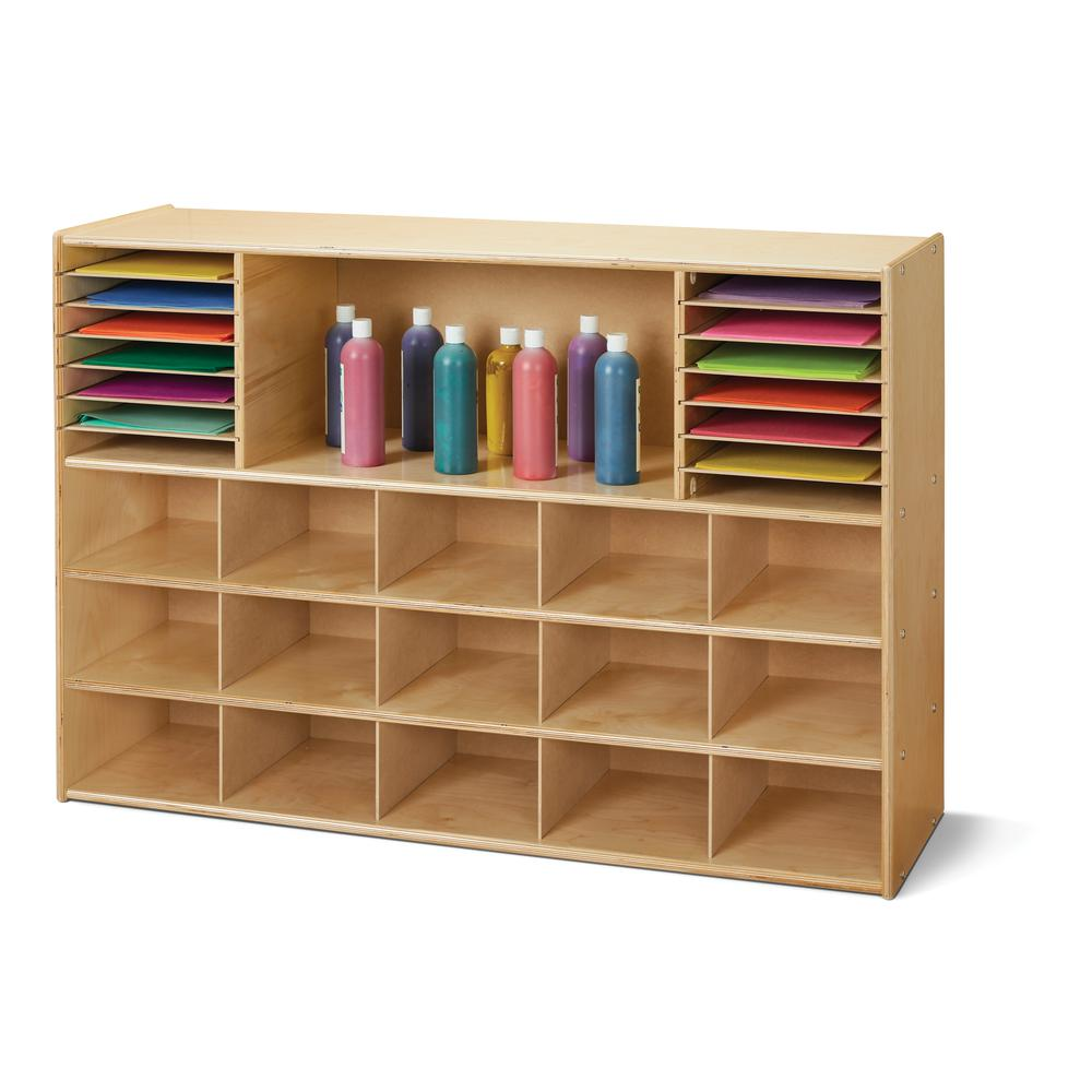 Sectional Cubbie-Tray Storage - without Bins. Picture 1