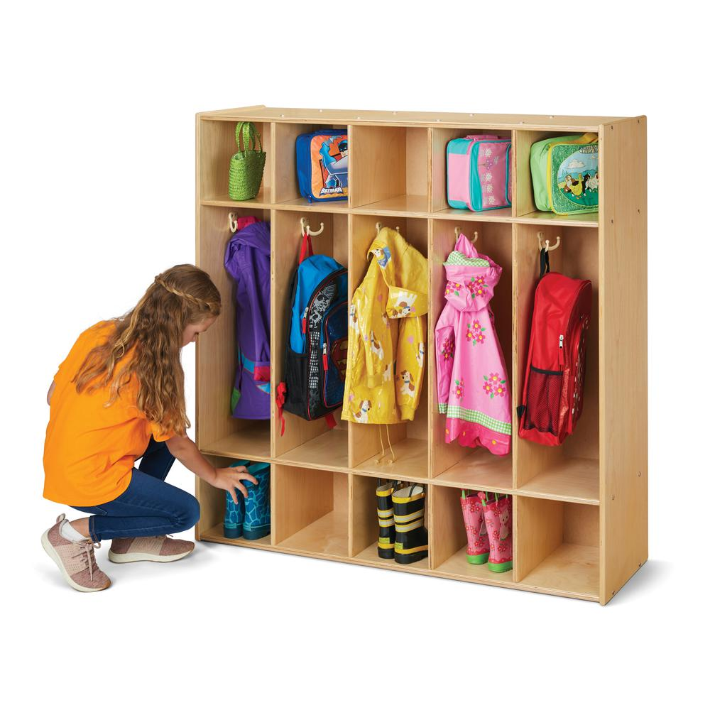5 Section Coat Locker. Picture 1