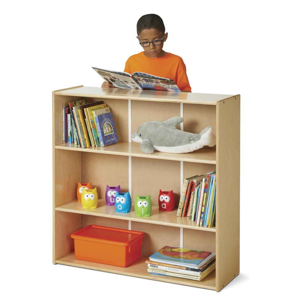 Short Adjustable Shelf Bookcase. Picture 1