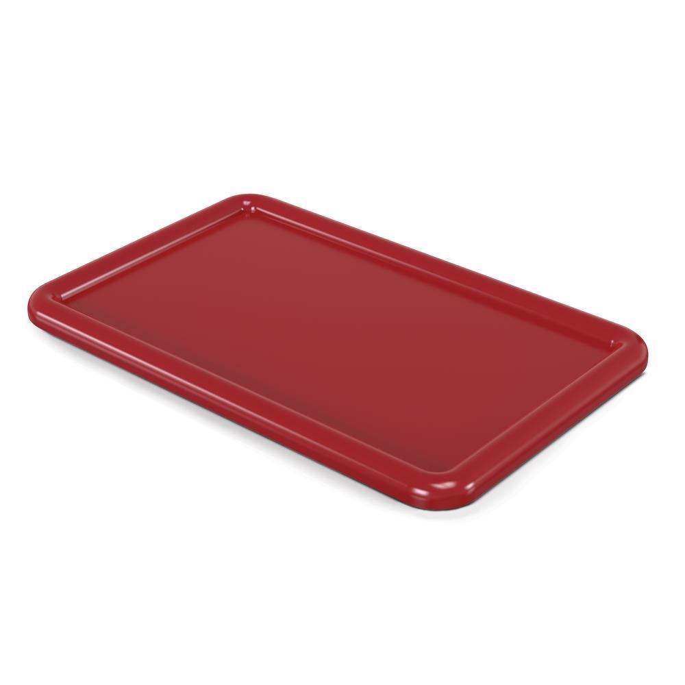 Cubbie Tray Lids, 8-5/8w x 13-1/2d, Red. Picture 1