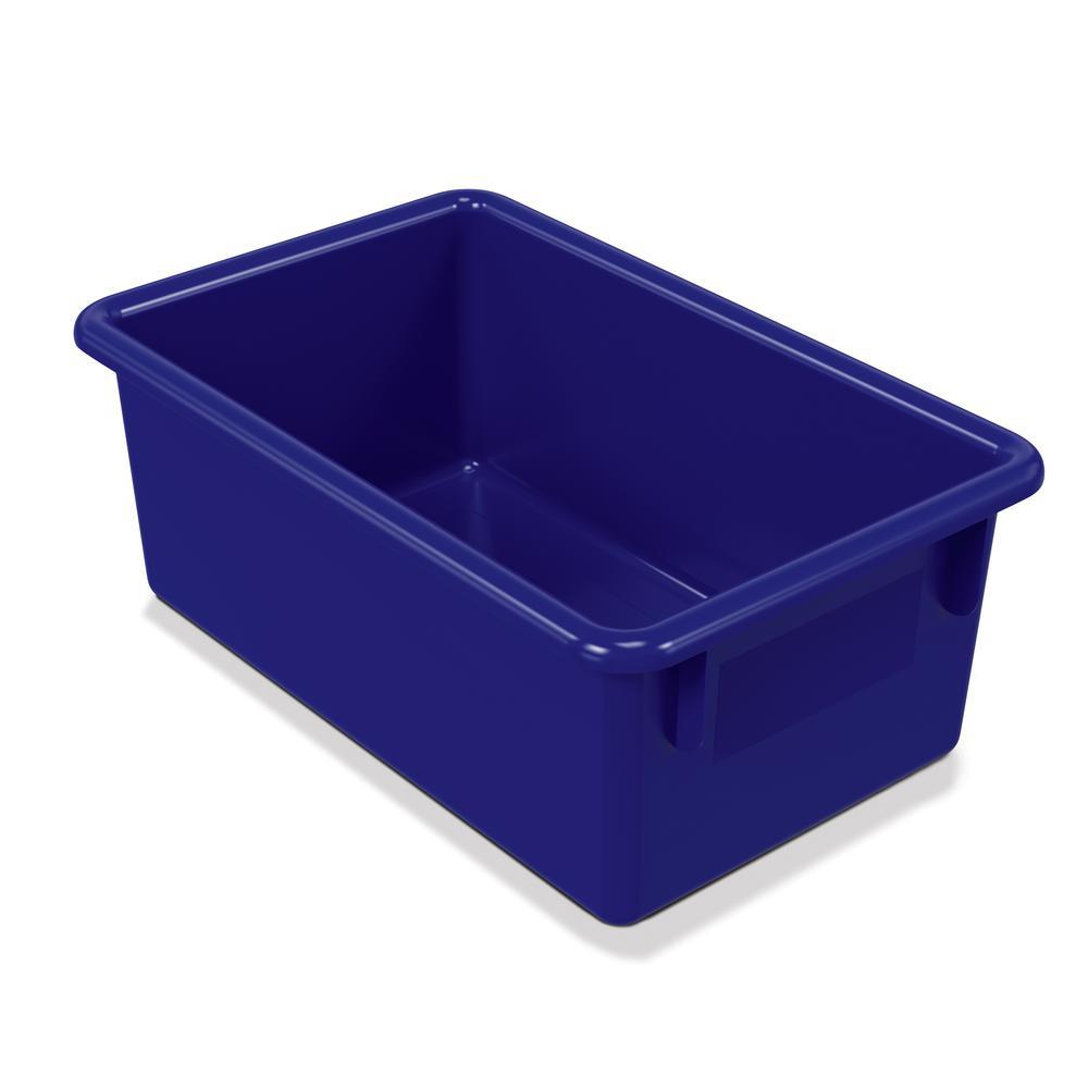 Cubbie Trays, 8-5/8w x 13-1/2d x 5-1/4h, Blue. Picture 1