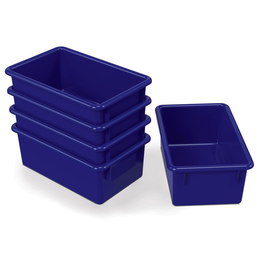 Cubbie Trays, 8-5/8w x 13-1/2d x 5-1/4h, Blue. Picture 2