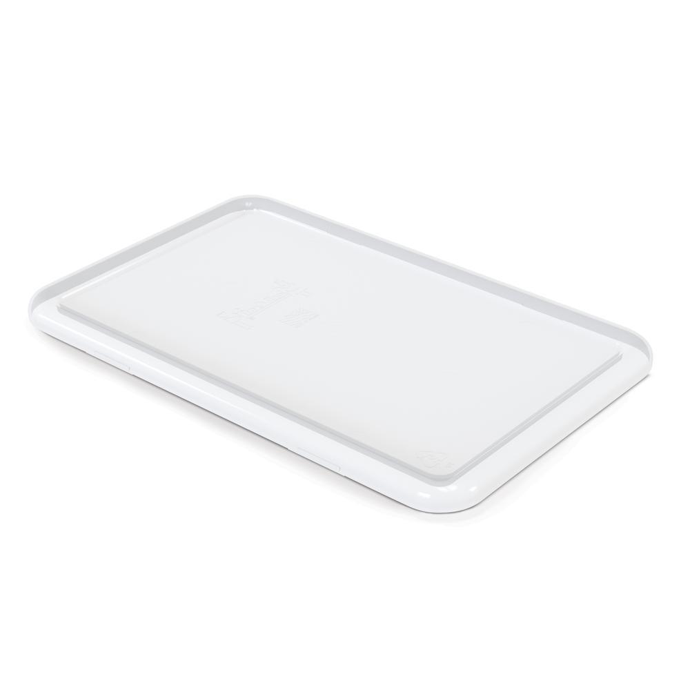 Cubbie Tray Lids, 8-5/8w x 13-1/2d, Clear. Picture 1
