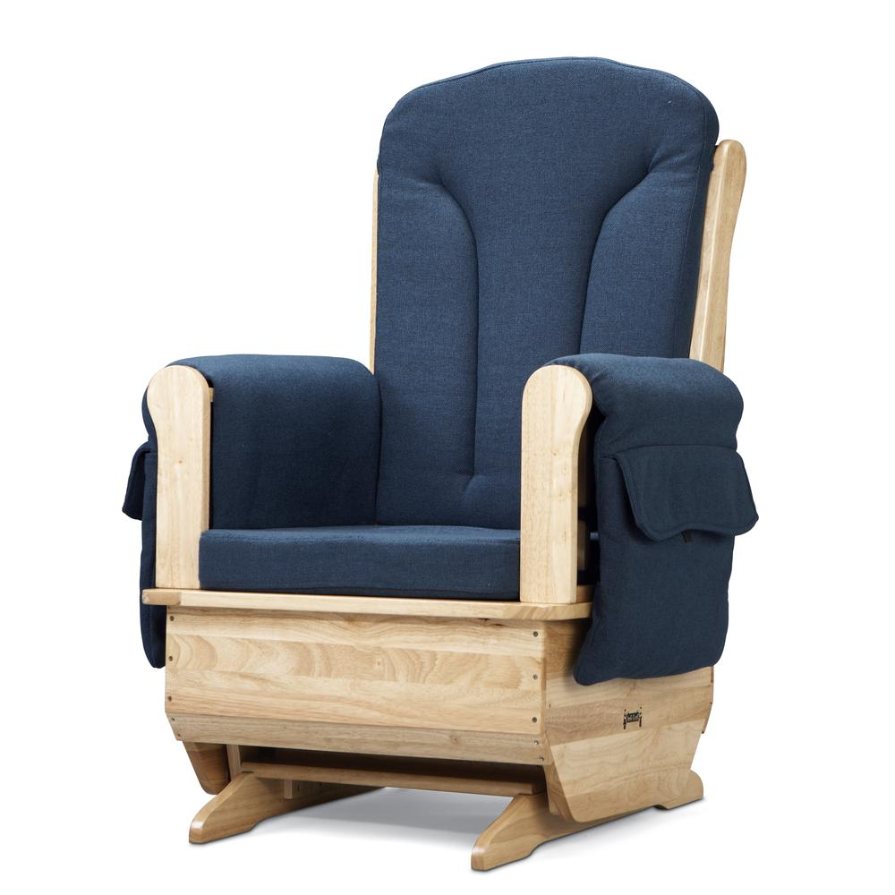Glider Rocker - Blue Cushions. Picture 2