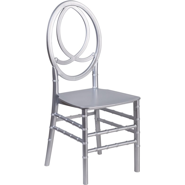 Hercules Series Silver Resin Stacking Phoenix Chair