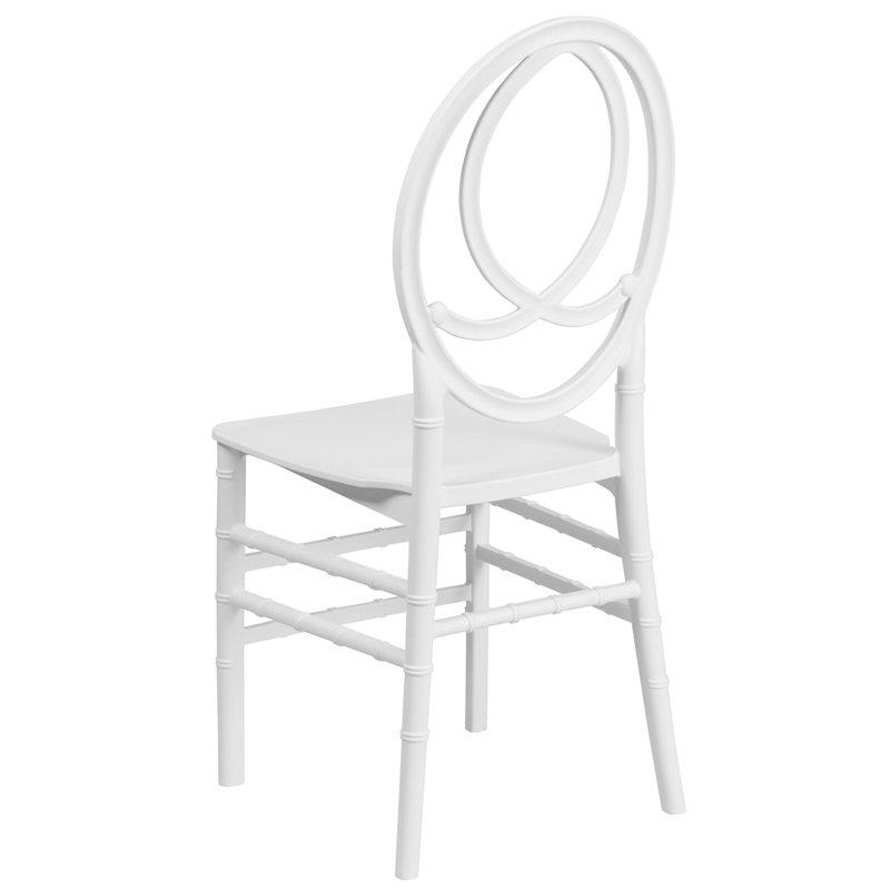 Hercules Series White Resin Stacking Phoenix Chair