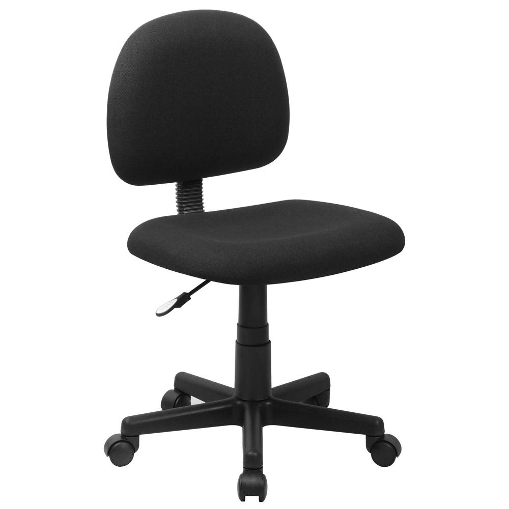 Mid Back Black Fabric Swivel Task Chair