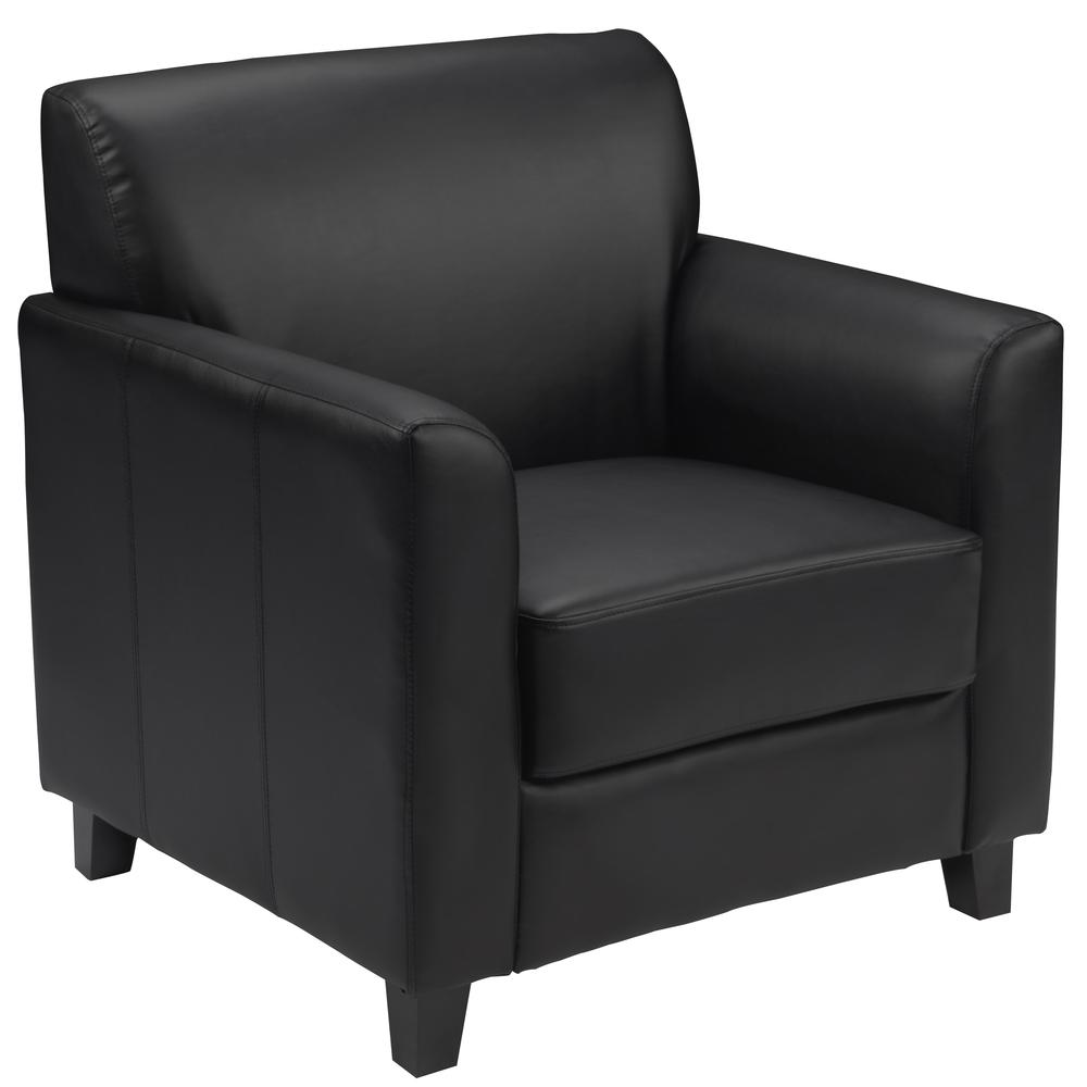 HERCULES Diplomat Series Black LeatherSoft Chair