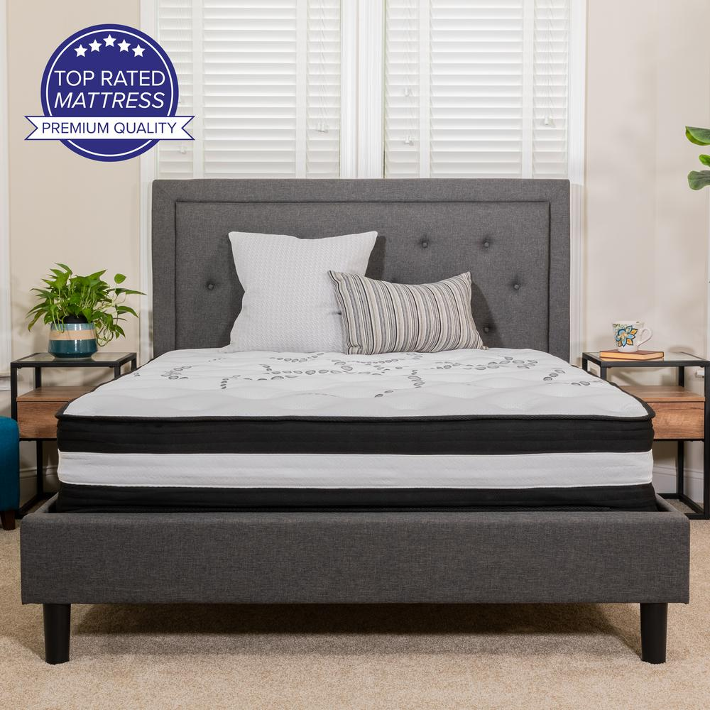 Twin Mattress | Twin Bed Size High Density Foam and Pocket Spring Mattress in a Box