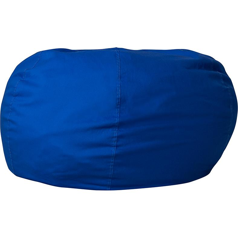 Personalized Oversized Solid Royal Blue Bean Bag Chair