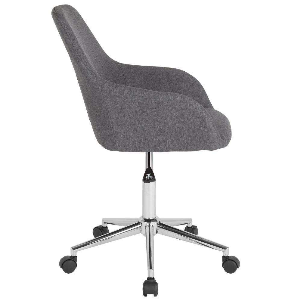 Home and Office Mid-Back Chair in Dark Gray Fabric. Picture 2