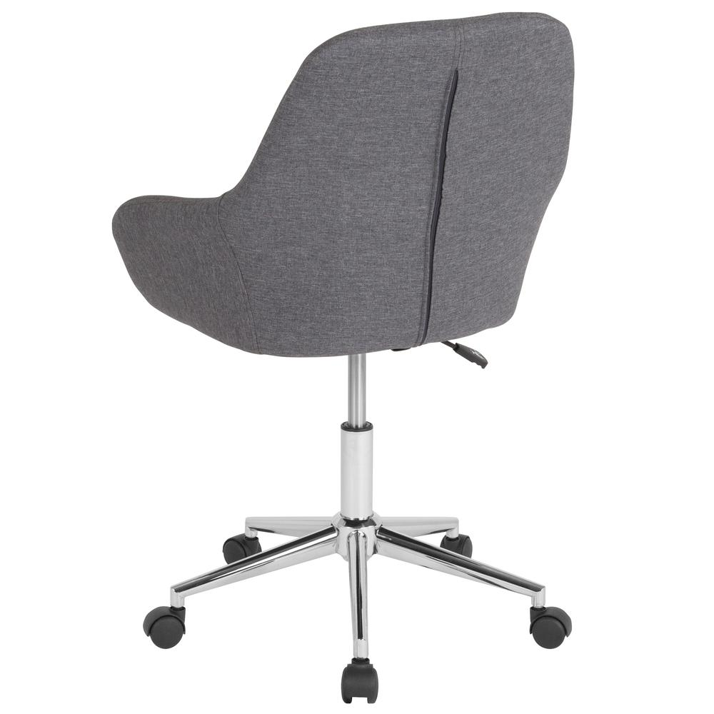 Home and Office Mid-Back Chair in Dark Gray Fabric. Picture 3