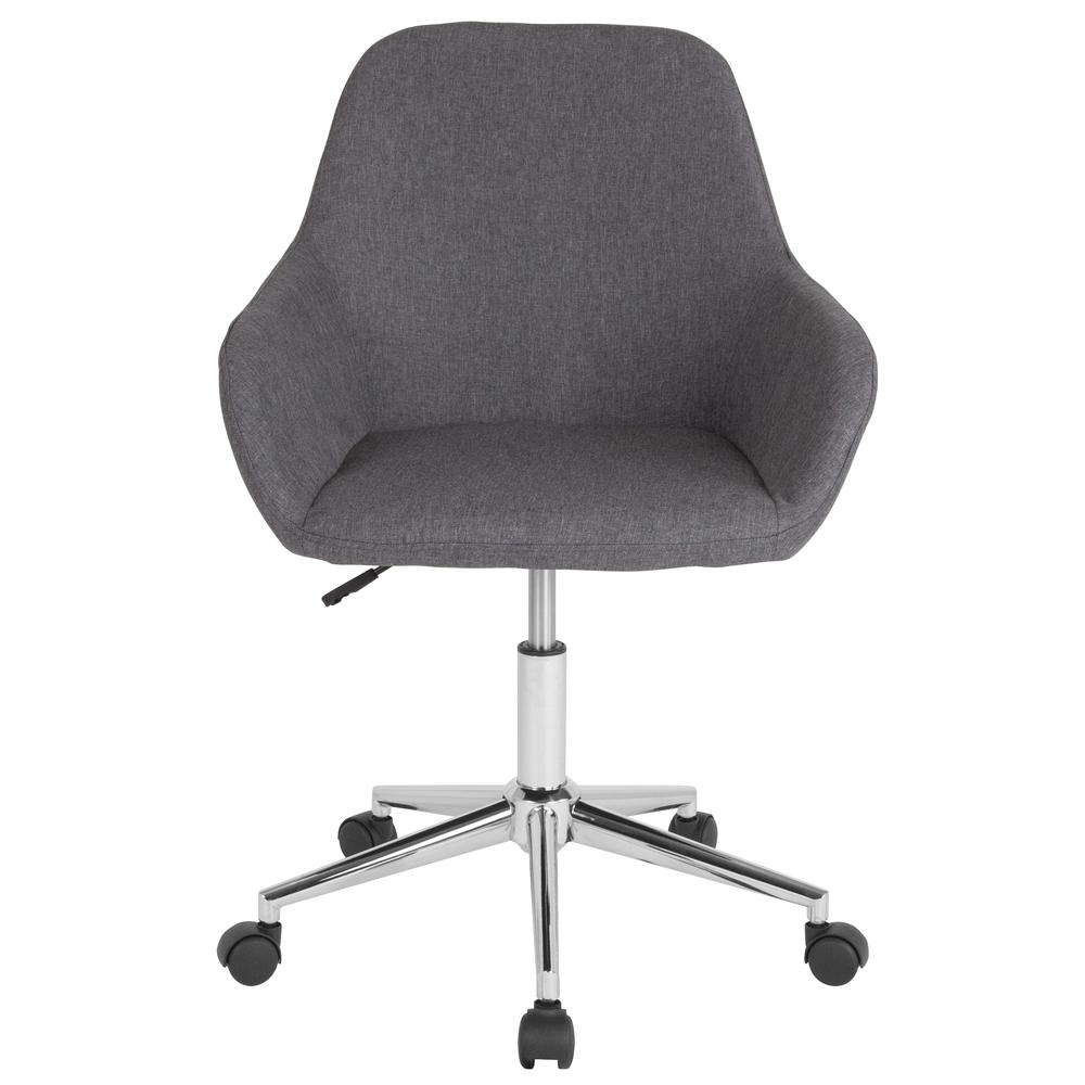 Home and Office Mid-Back Chair in Dark Gray Fabric. Picture 4