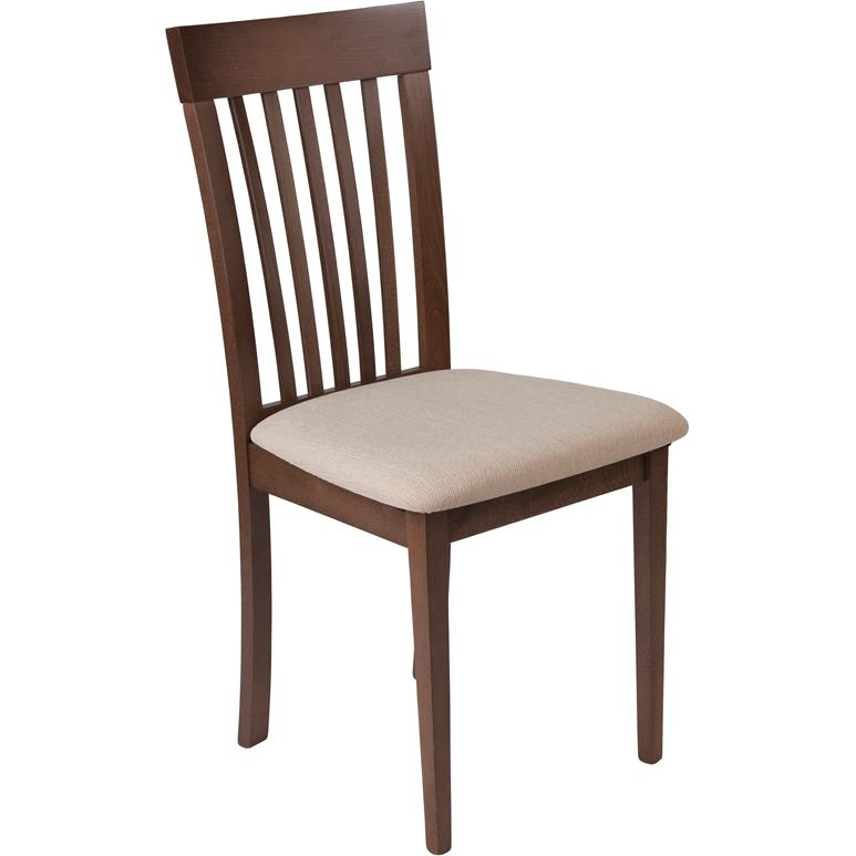 Wellington Walnut Finish Wood Dining Chair With Rail Back