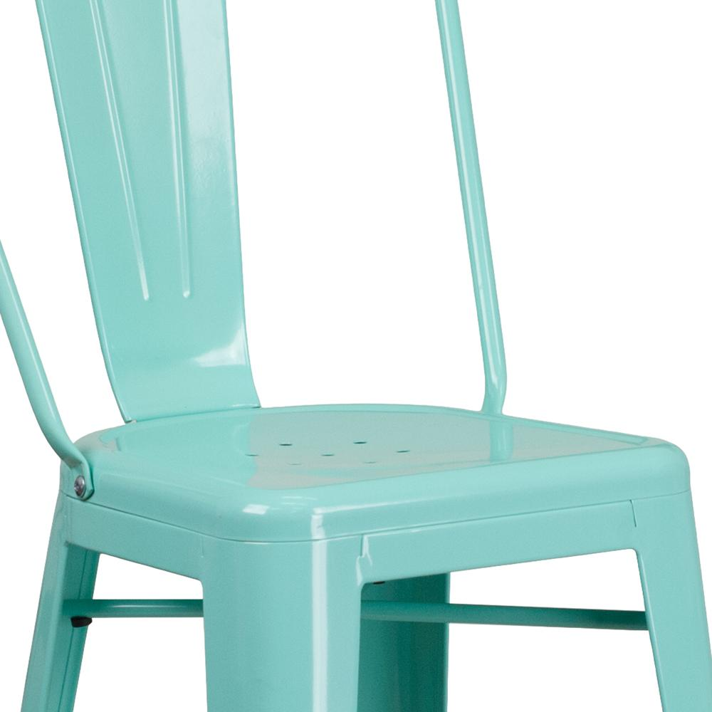 "Commercial Grade 30"" High Mint Green Metal Indoor-Outdoor Barstool with Back [ET-3534-30-MINT-GG]. Picture 6"