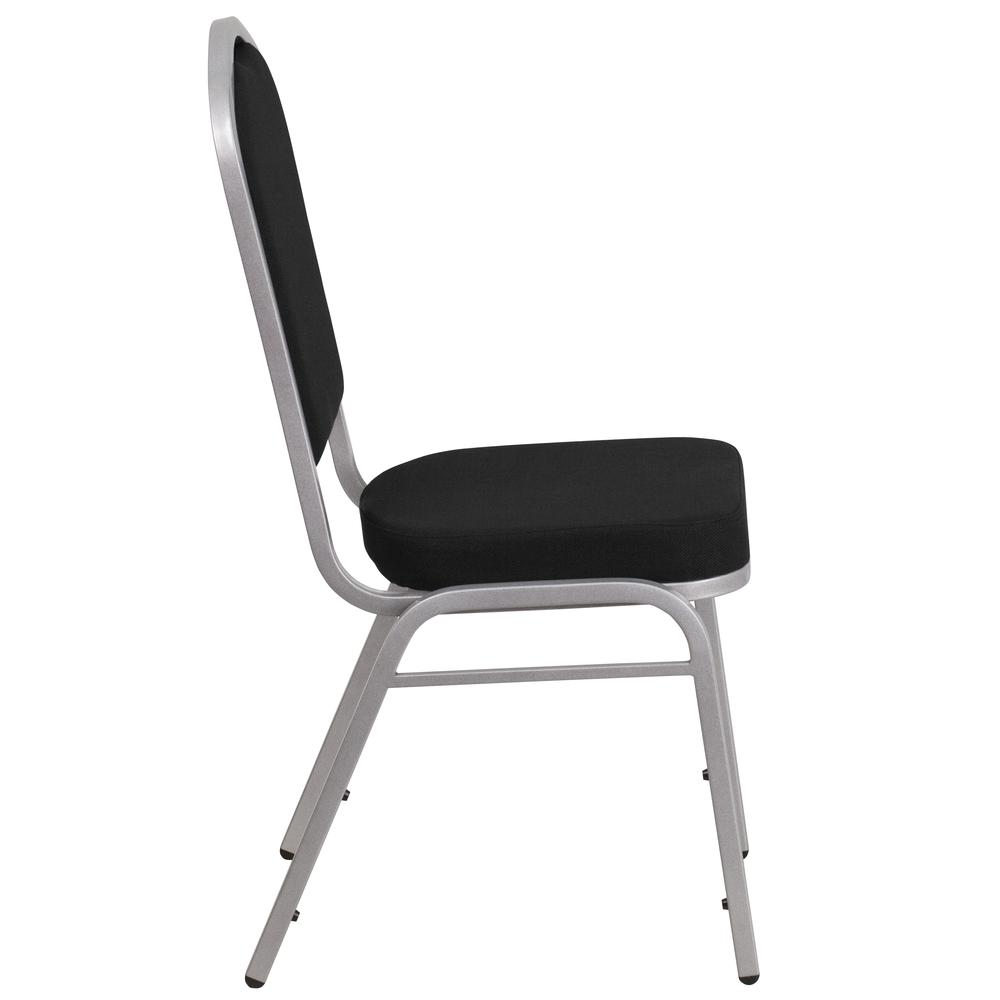 Hercules Series Crown Back Stacking Banquet Chair In Black