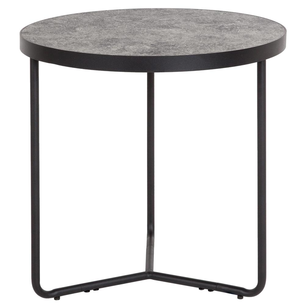 """19.5"""" Round End Table in Concrete Finish. Picture 1"""