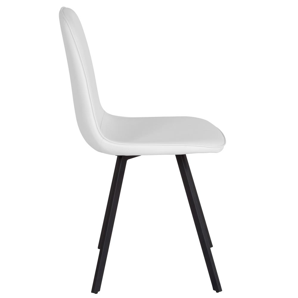 argos contemporary dining chair in white vinyl. Black Bedroom Furniture Sets. Home Design Ideas