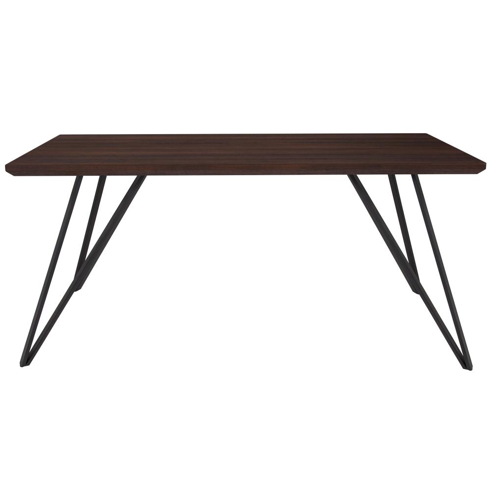 "31.5"" x 63"" Rectangular Dining Table in Dark Ash Finish. Picture 2"