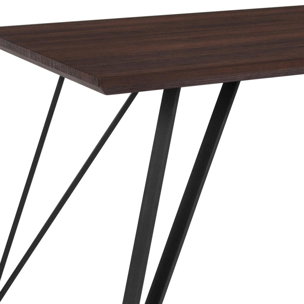 "31.5"" x 63"" Rectangular Dining Table in Dark Ash Finish. Picture 3"
