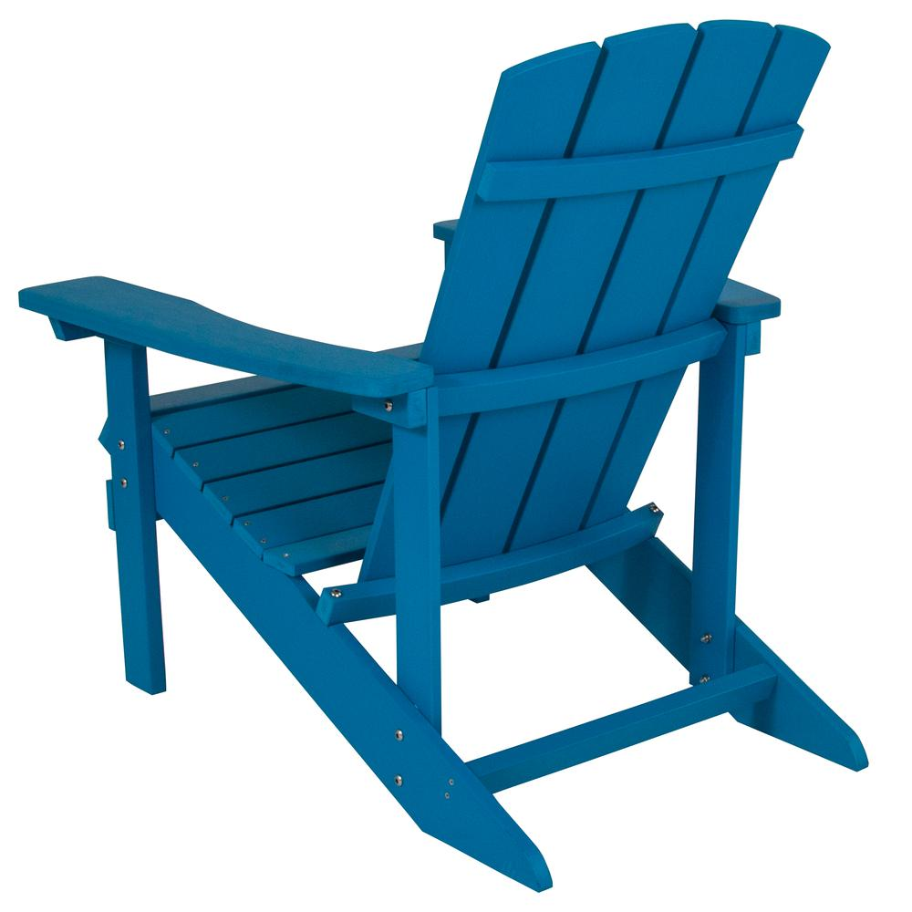 All-Weather Adirondack Chair in Blue Faux Wood. Picture 4