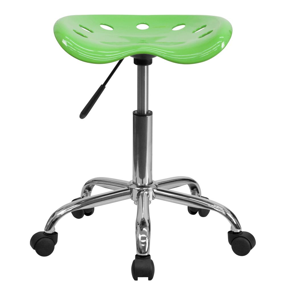 Vibrant Apple Green Tractor Seat and Chrome Stool. Picture 4
