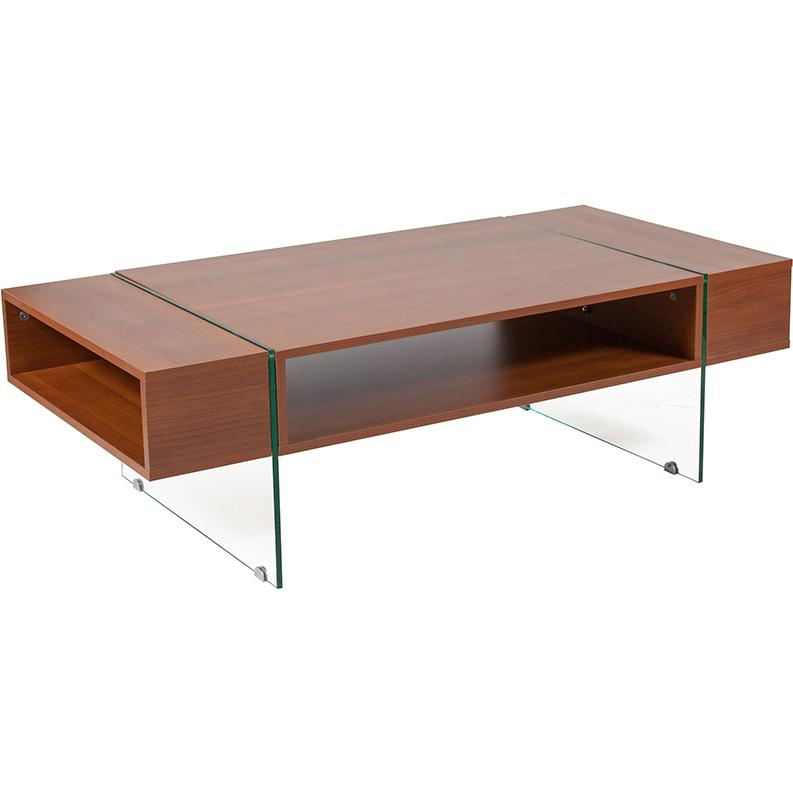 Lafayette Place Cherry Wood Grain Finish Coffee Table With