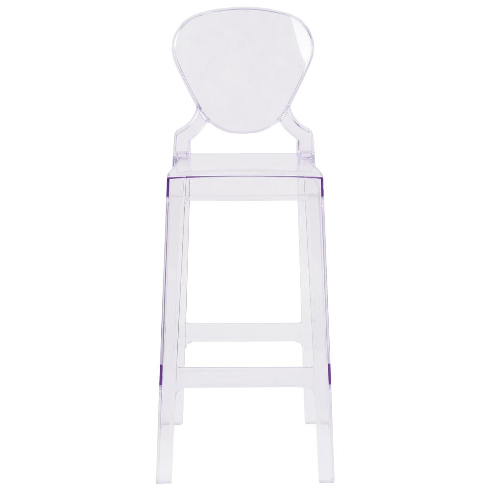 Ghost Barstool with Tear Back in Transparent Crystal. Picture 4