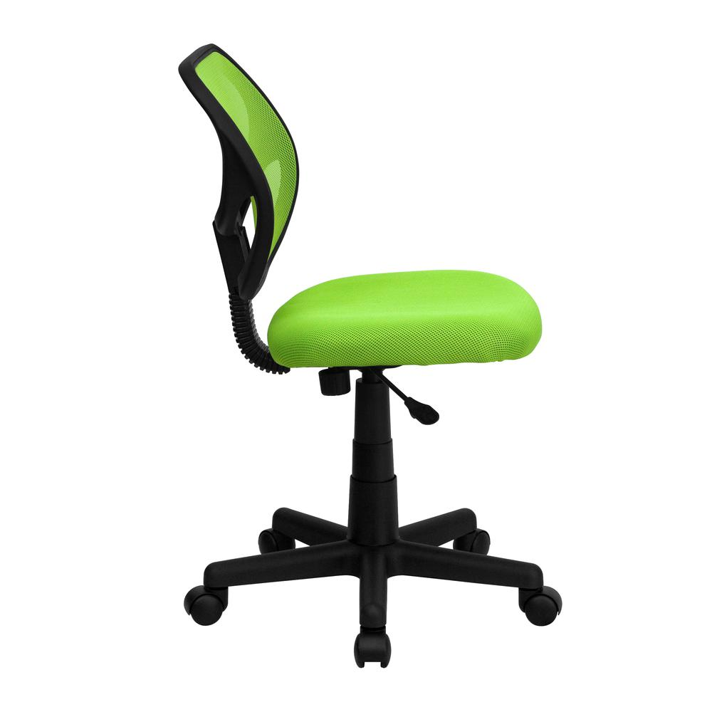 Low Back Green Mesh Swivel Task Office Chair. Picture 2