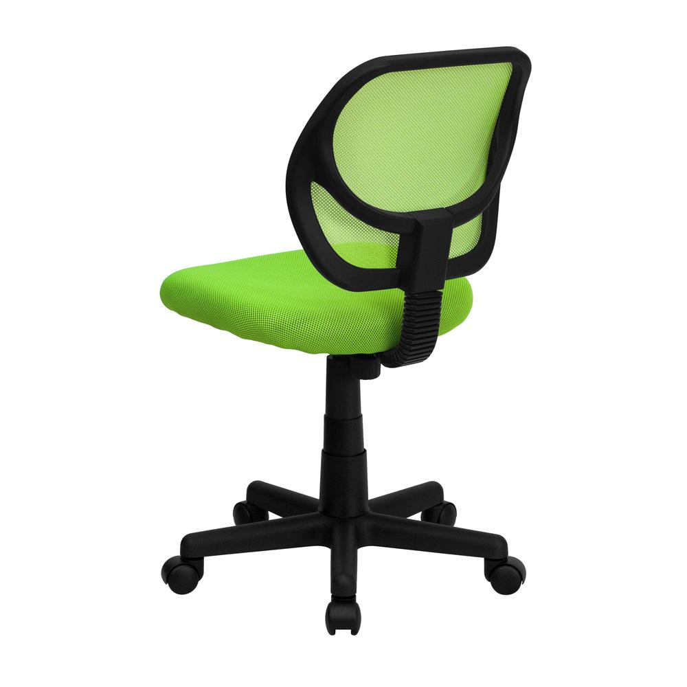Low Back Green Mesh Swivel Task Office Chair. Picture 3