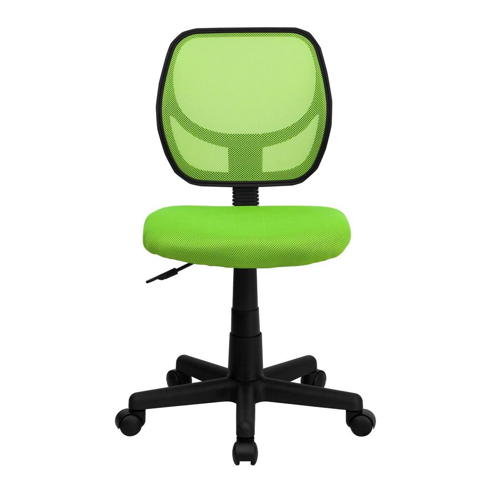 Low Back Green Mesh Swivel Task Office Chair. Picture 4
