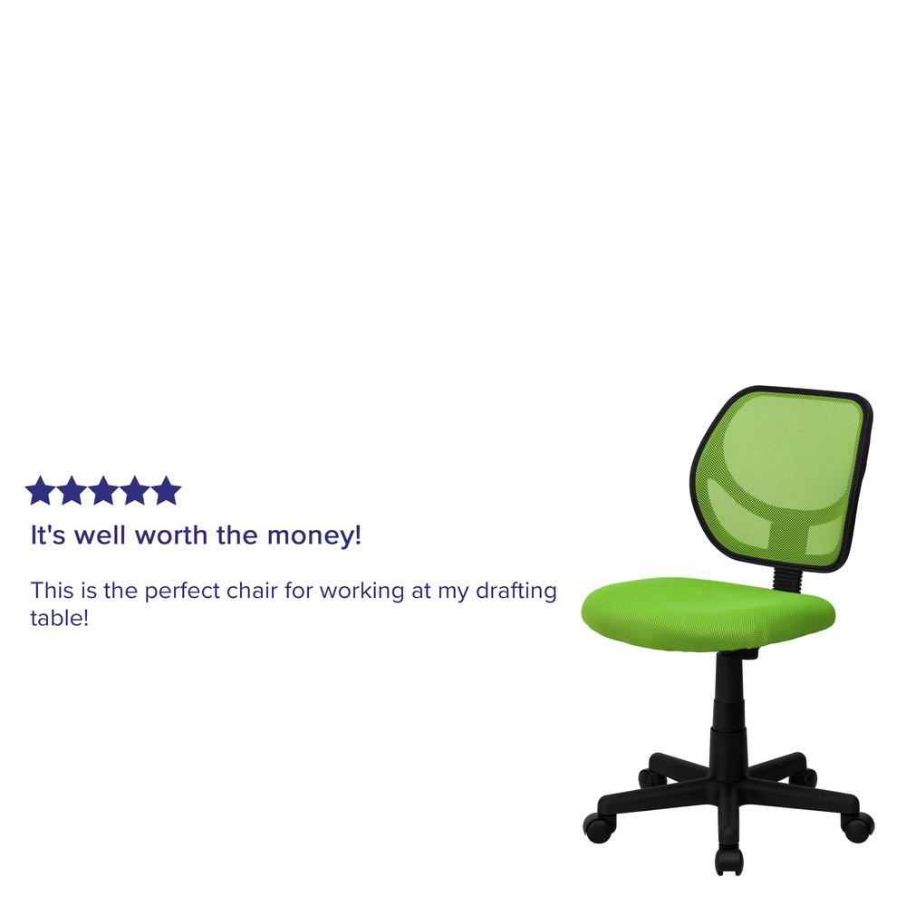 Low Back Green Mesh Swivel Task Office Chair. Picture 5