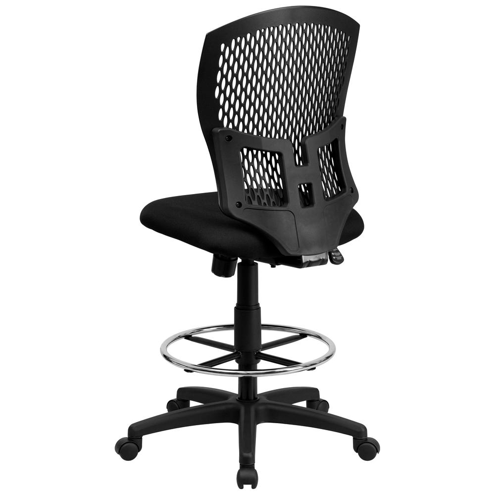 Mid Back Designer Back Drafting Chair With Fabric Seat