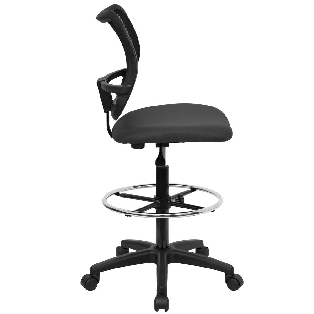 Mid-Back Gray Mesh Drafting Chair. Picture 2