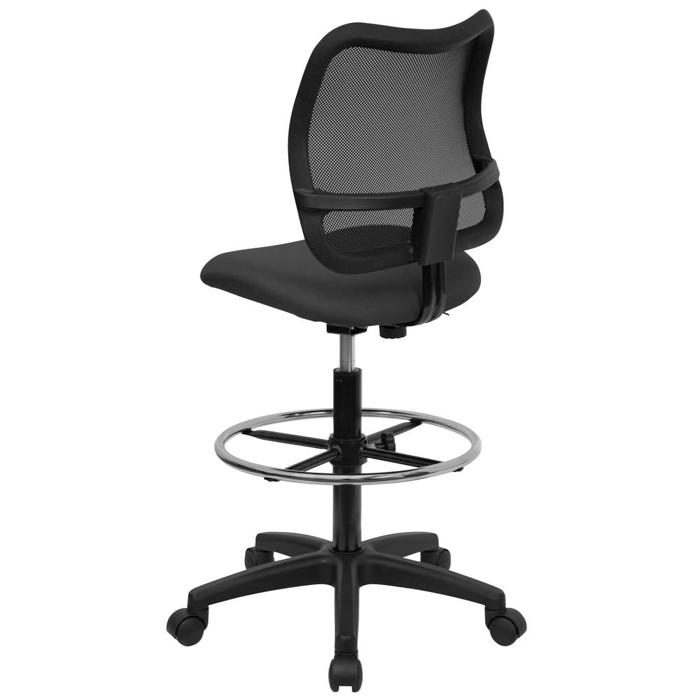 Mid-Back Gray Mesh Drafting Chair. Picture 3
