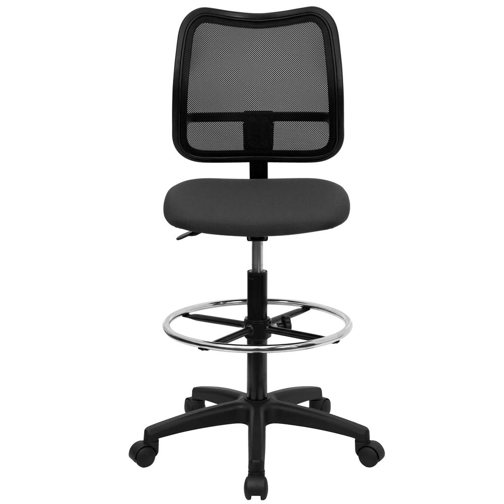 Mid-Back Gray Mesh Drafting Chair. Picture 4