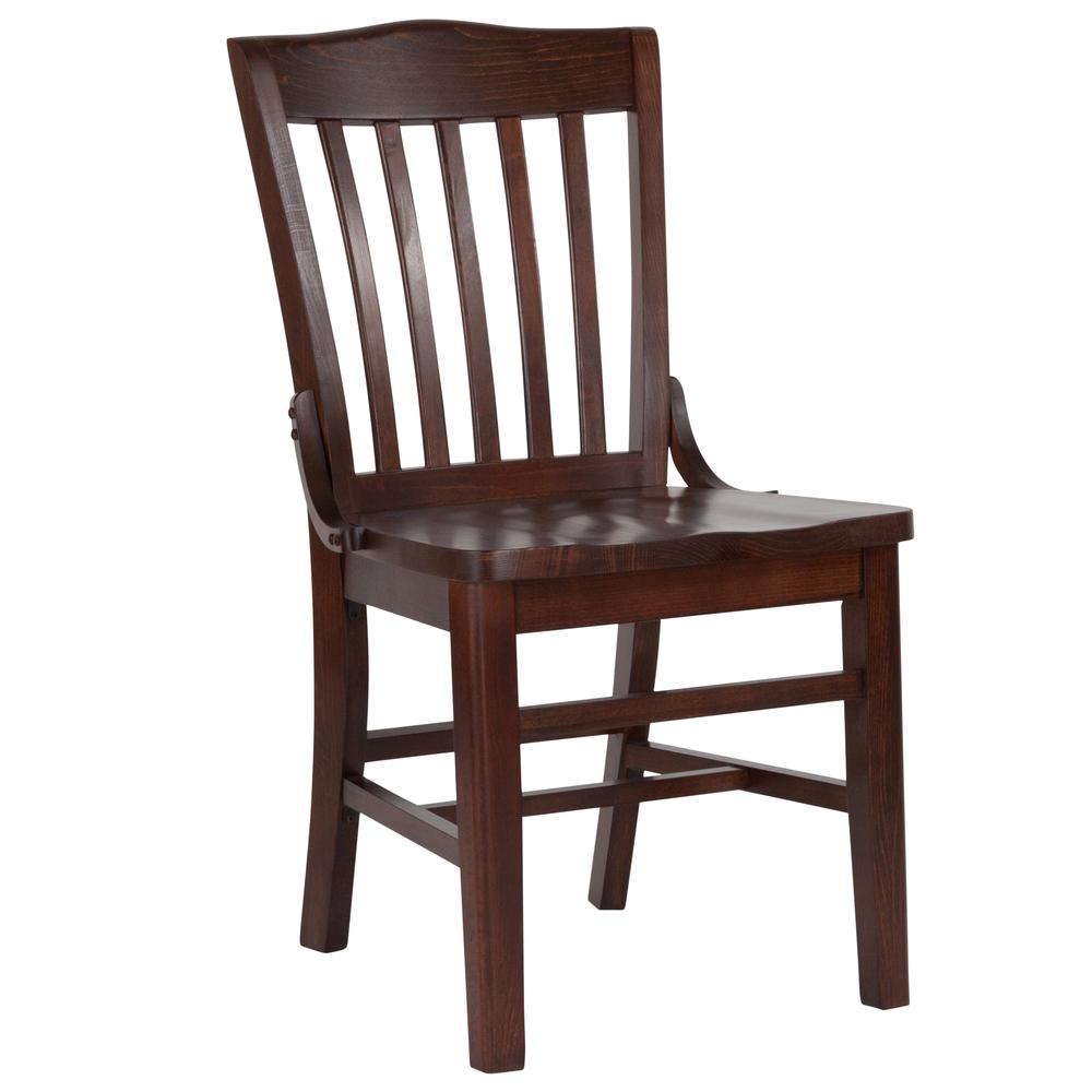 HERCULES Series School House Back Walnut Wood Restaurant Chair. Picture 1