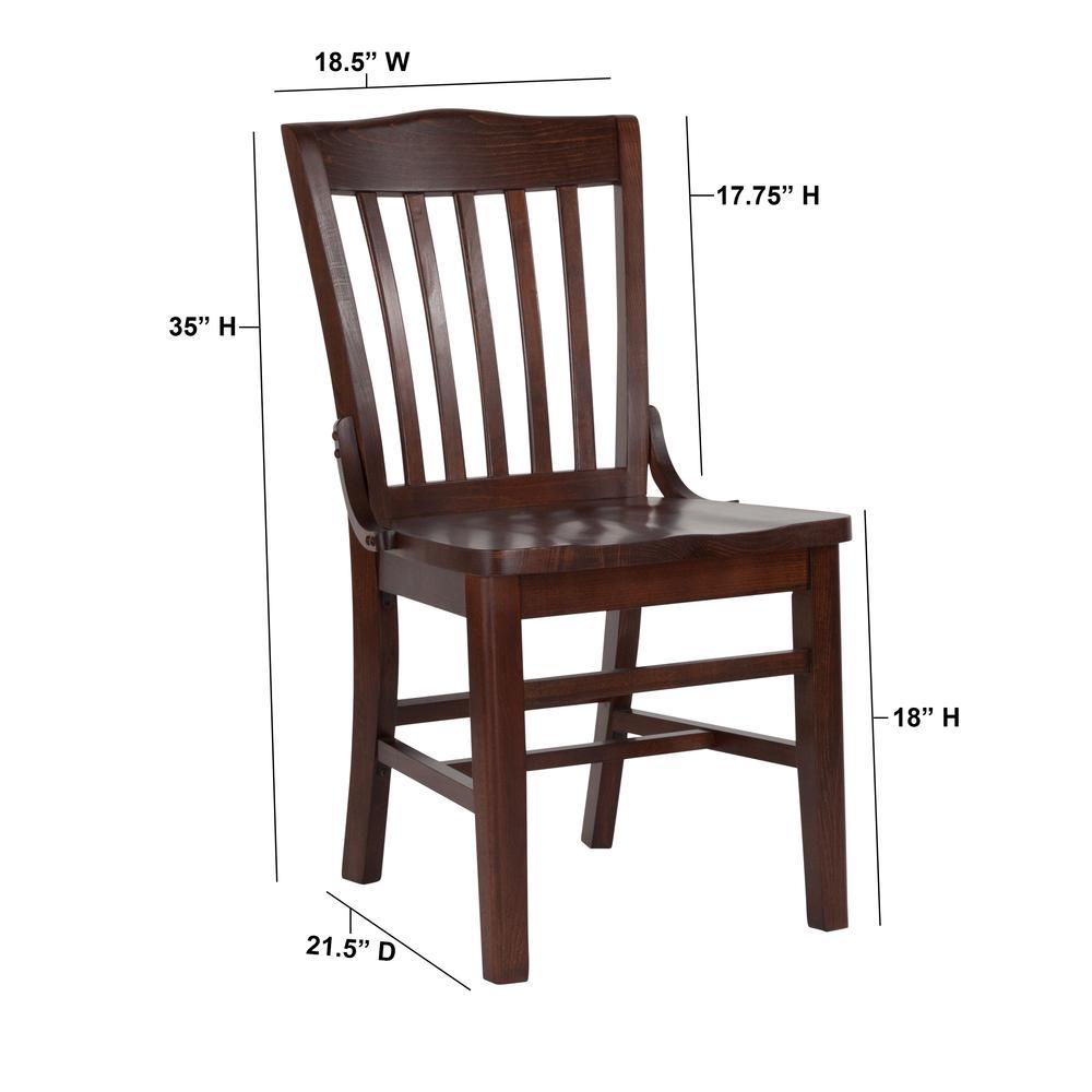 HERCULES Series School House Back Walnut Wood Restaurant Chair. Picture 5