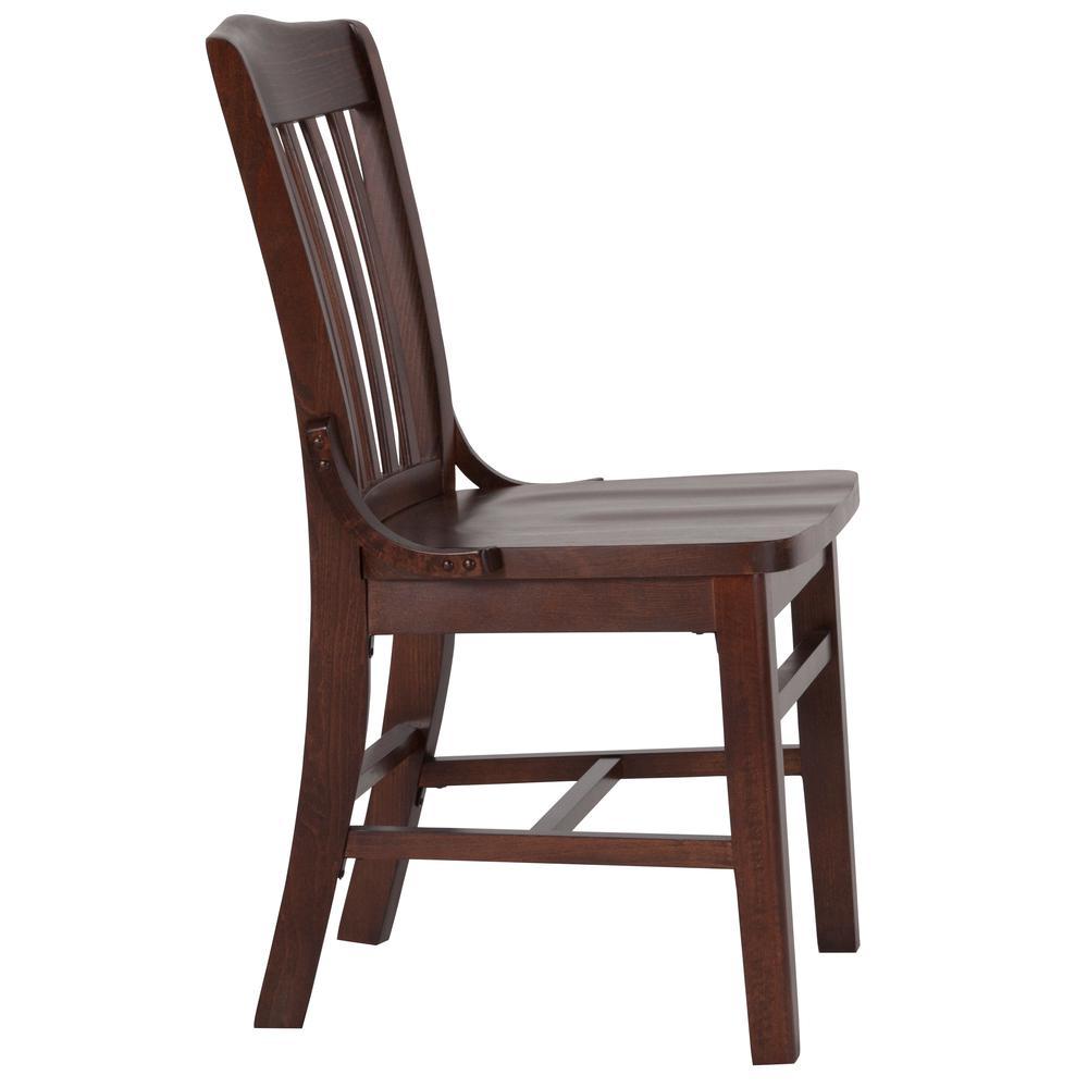 HERCULES Series School House Back Walnut Wood Restaurant Chair. Picture 2