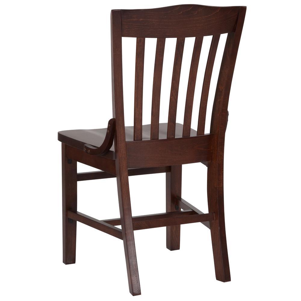 HERCULES Series School House Back Walnut Wood Restaurant Chair. Picture 3