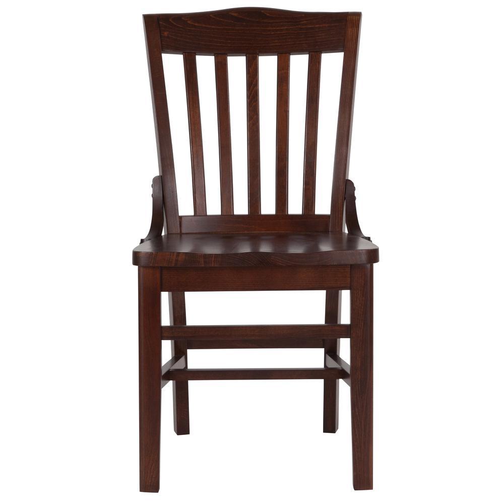 HERCULES Series School House Back Walnut Wood Restaurant Chair. Picture 4