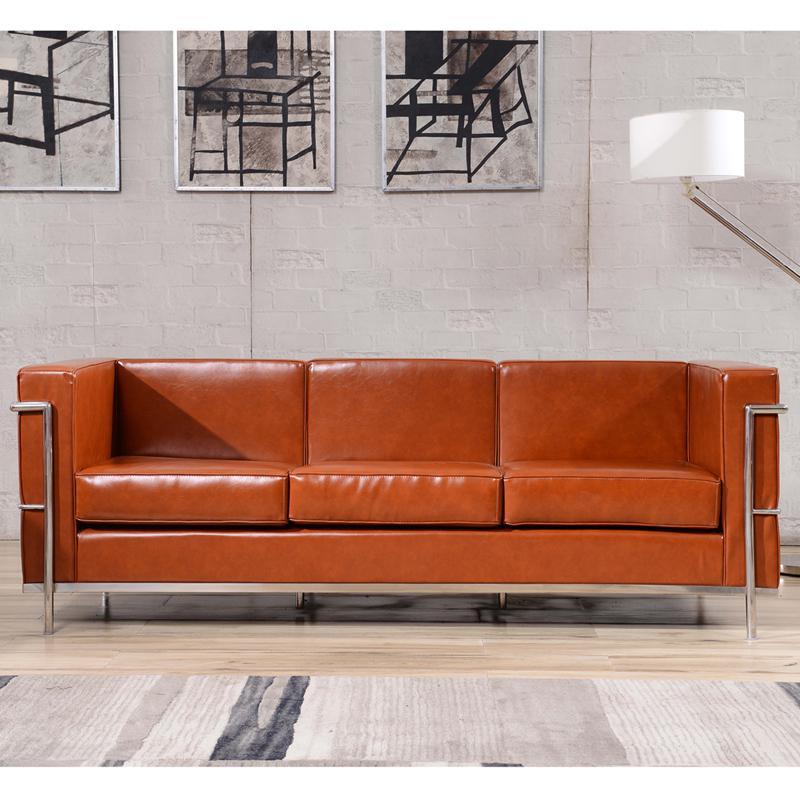 Hercules regal series contemporary cognac leather sofa for Regal flooring arizona