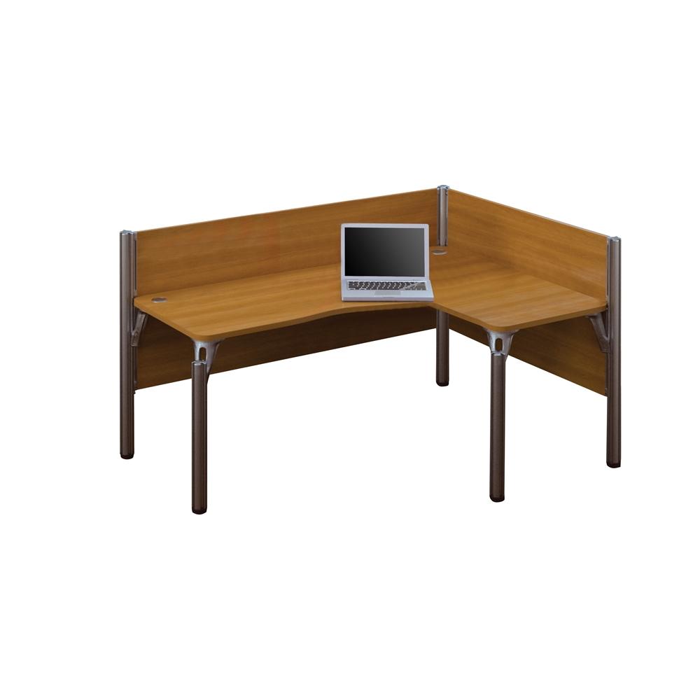 Pro Biz Single Right L Desk Workstation In Cappuccino Cherry