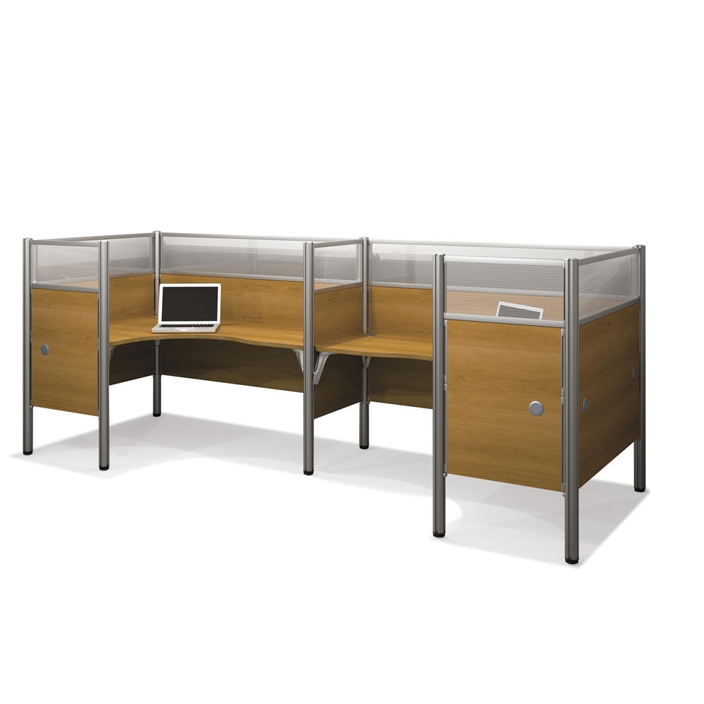 Pro Biz Double Back To Back L Desk Workstation In