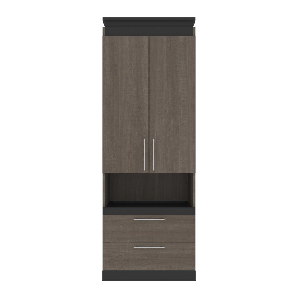 Orion  30W 30W Storage Cabinet with Pull-Out Shelf in bark gray and graphite. Picture 2
