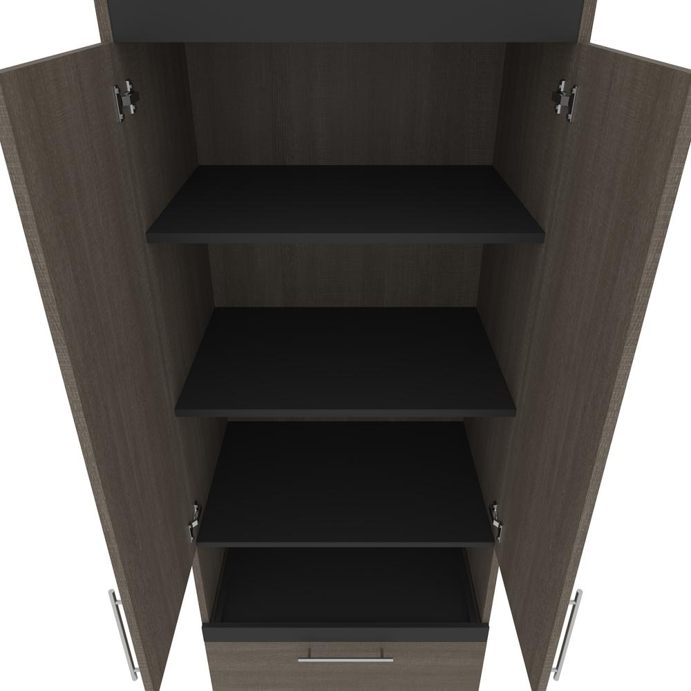 Orion  30W 30W Storage Cabinet with Pull-Out Shelf in bark gray and graphite. Picture 4