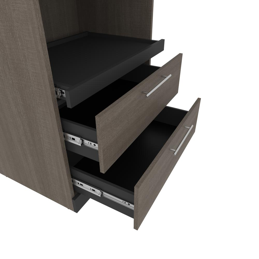 Orion  30W 30W Storage Cabinet with Pull-Out Shelf in bark gray and graphite. Picture 5