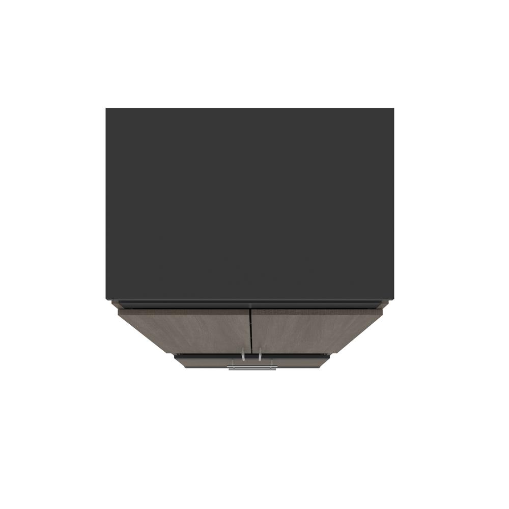 Orion  30W 30W Storage Cabinet with Pull-Out Shelf in bark gray and graphite. Picture 9