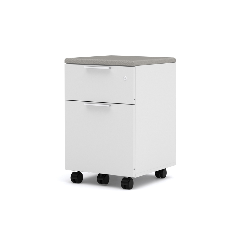 Pro Linea Assembled Mobile Pedestal In White
